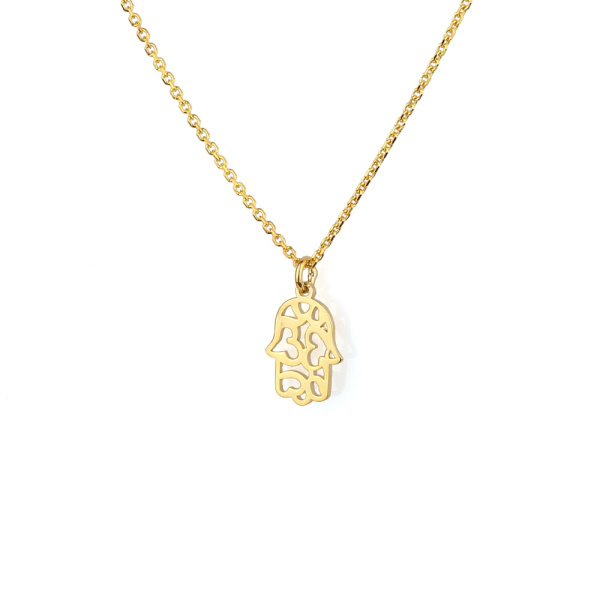 - THANKFUL HAMSA NECKLACE