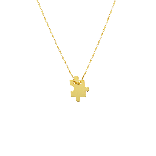- PUZZLE PIECES NECKLACE