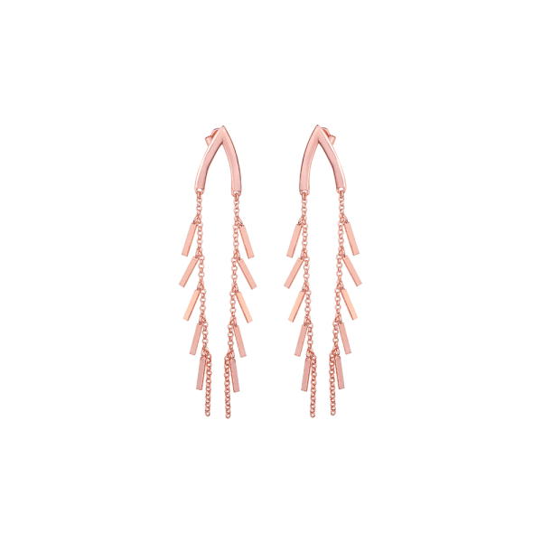 - WISH TASSEL ROSE EARRINGS