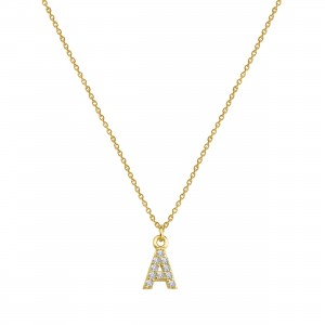 - A INITIAL NECKLACE