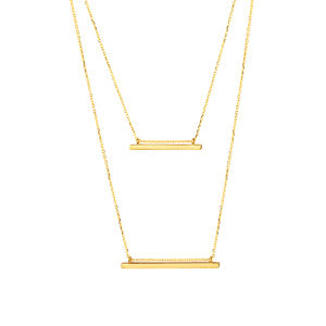 TWO BAR NECKLACE - Thumbnail