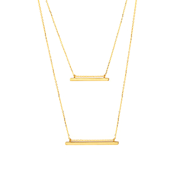- TWO BAR NECKLACE