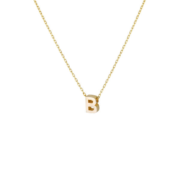 - B INITIAL NECKLACE