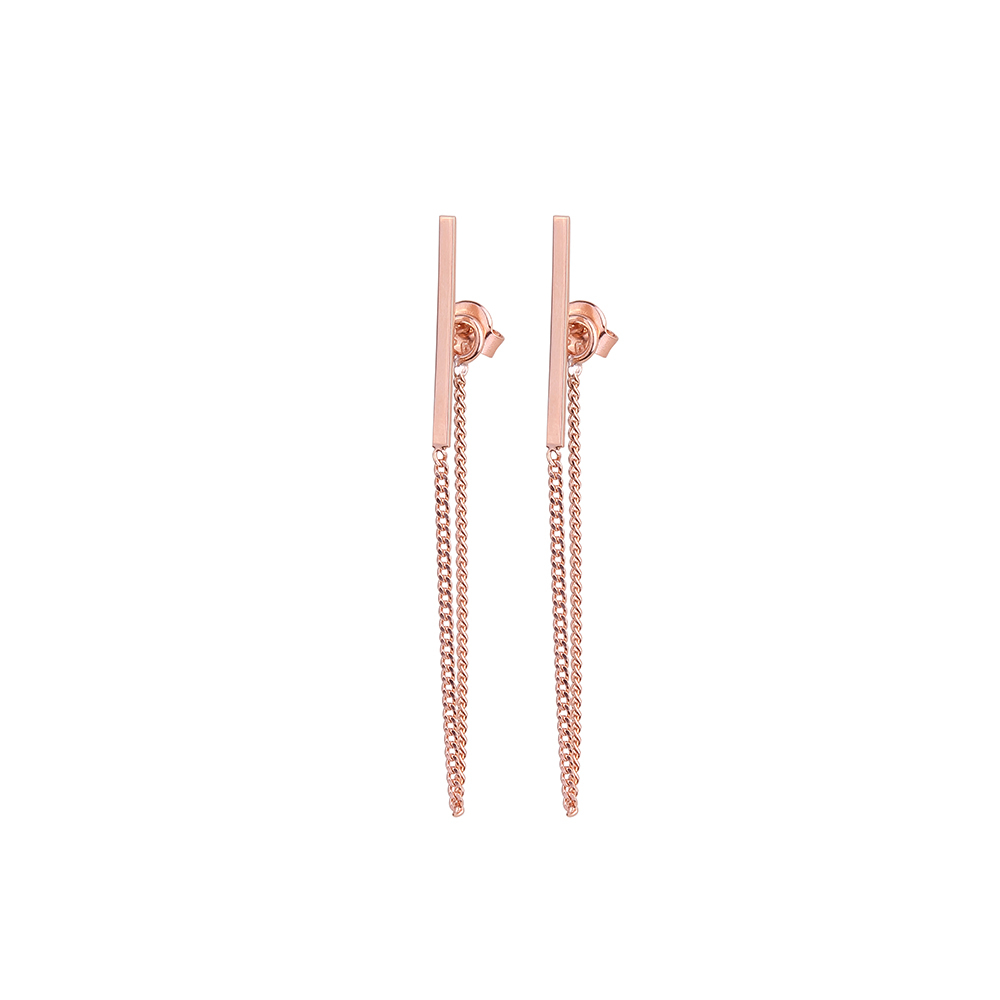 BALANCE CHAIN ROSE EARRINGS