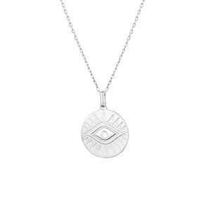 BIG EYE COIN NECKLACE - Thumbnail (2)