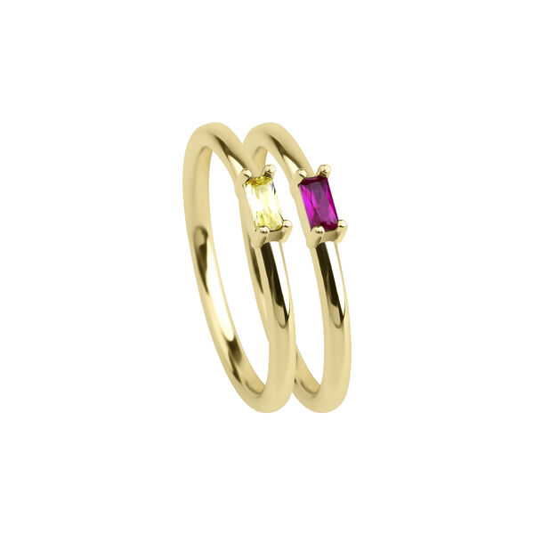 - CHAMPAGNE&RED NORA RING
