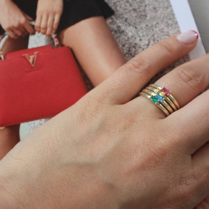 CHAMPAGNE&RED NORA RING - Thumbnail