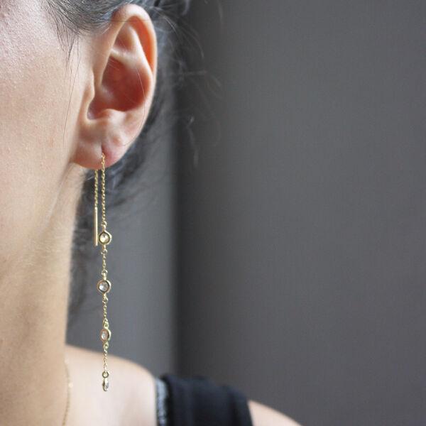 DECO CHAIN EARRINGS