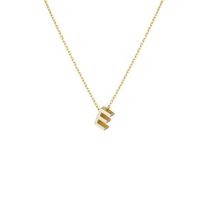 - E INITIAL NECKLACE