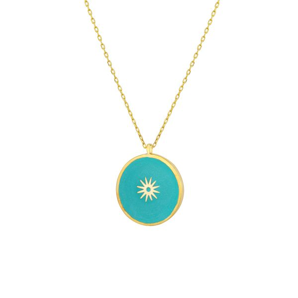 - ENAMEL BEAUTIFUL COIN NECKLACE