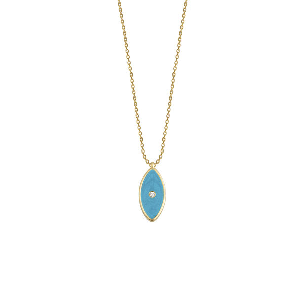 - ENAMEL EVIL EYE NECKLACE