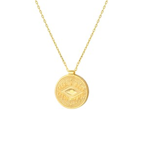 - ENAMEL EYE COIN NECKLACE (1)