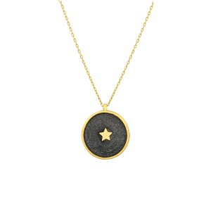 - ENAMEL STAR COIN NECKLACE