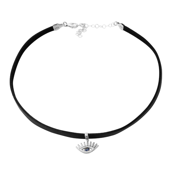 - EVIL EYE CHOKER NECKLACE