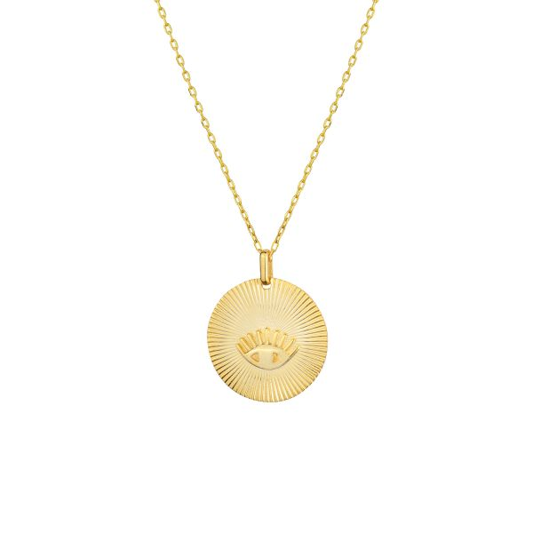 - EVIL EYE COIN NECKLACE