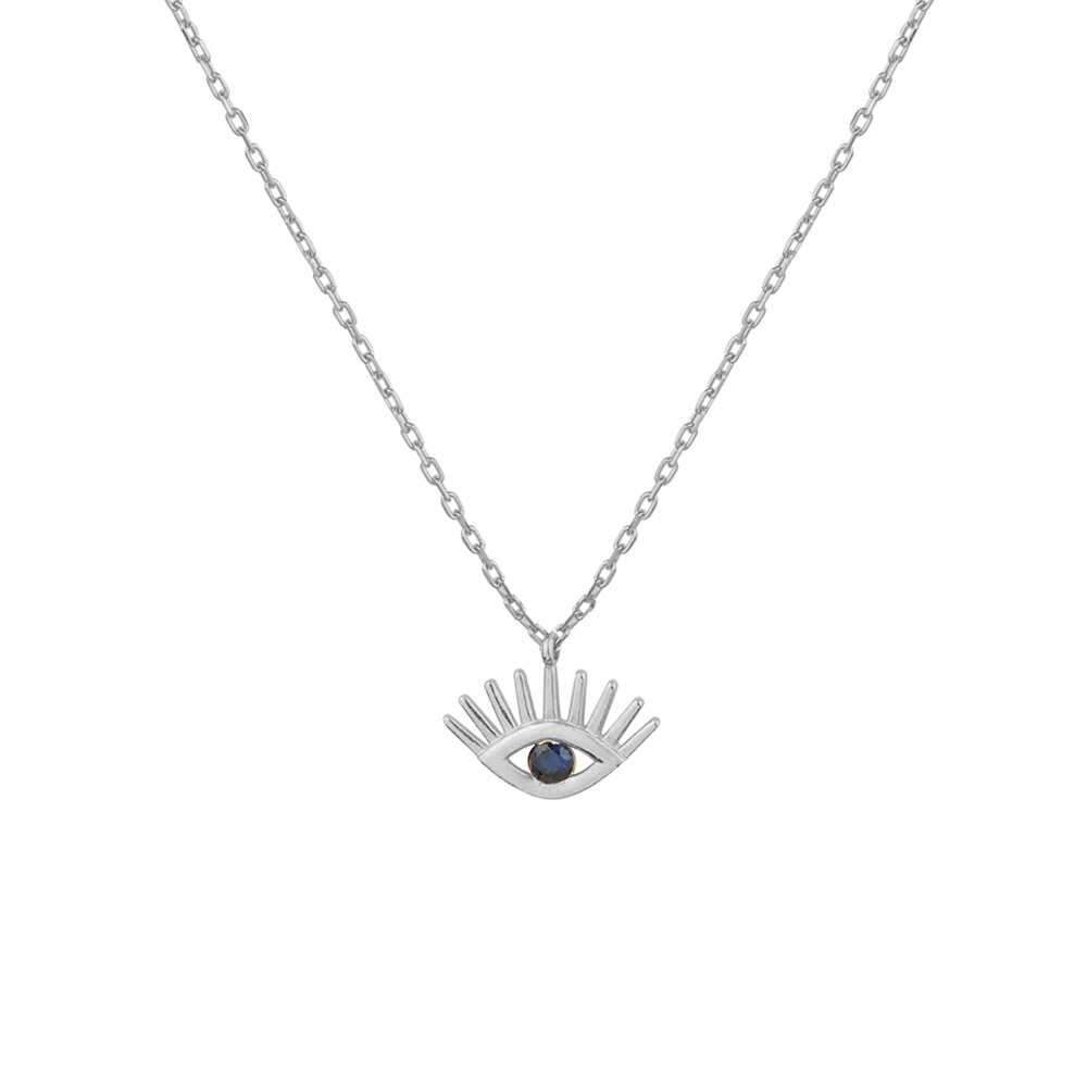 pave eye t necklace hamsa and evil meira products