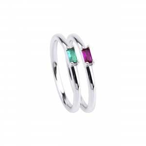 - GREEN&RED NORA RING