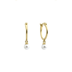 - HOOP PEARL EARRINGS