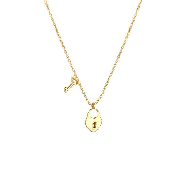 - FOREVER LOCK AND HEART NECKLACE