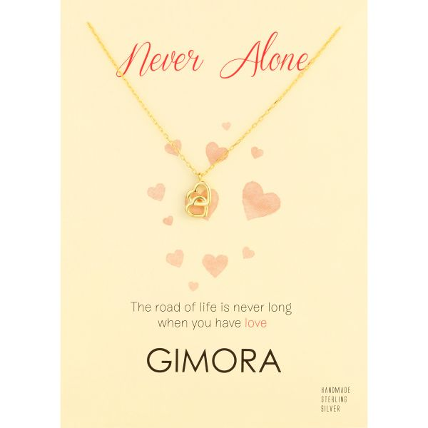 NEVER ALONE HEART NECKLACE - Thumbnail (2)