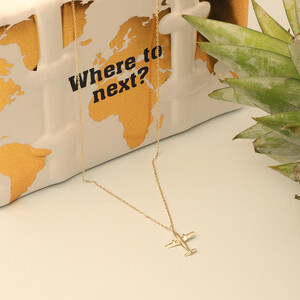 JOURNEYS PLANE NECKLACE - Thumbnail (2)