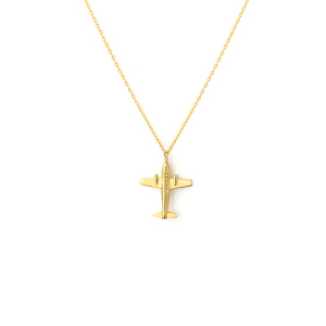 - JOURNEYS PLANE NECKLACE