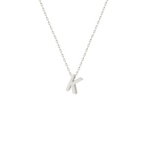 - K INITIAL NECKLACE