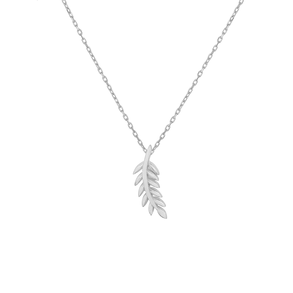 necklace with diamonds white gold olive branch