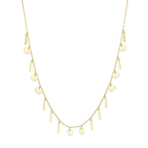 - MINA BAR DISC NECKLACE