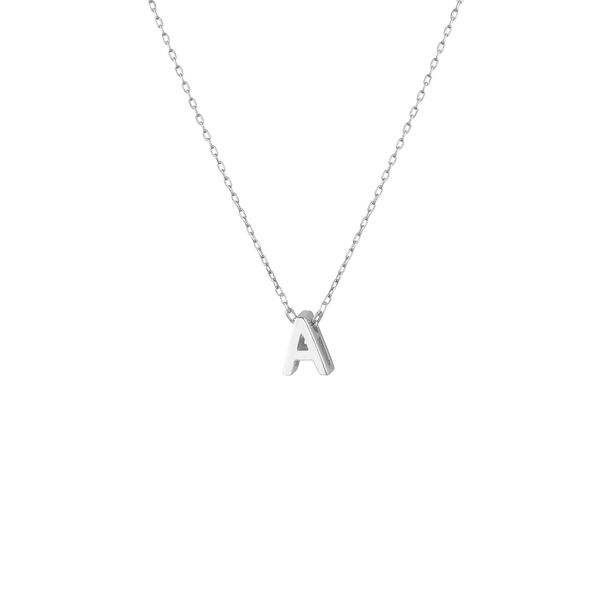 - MINI A INITIAL NECKLACE