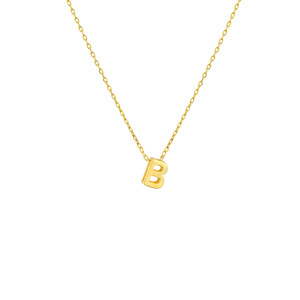 - MINI B INITIAL NECKLACE
