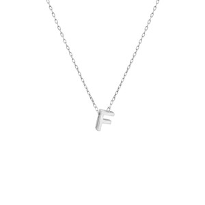 - MINI F INITIAL NECKLACE
