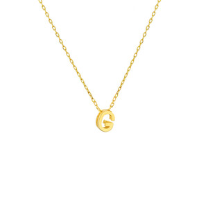 - MINI G INITIAL NECKLACE