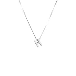 - MINI H INITIAL NECKLACE