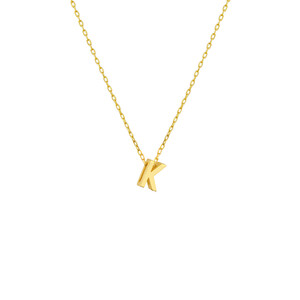 - MINI K INITIAL NECKLACE