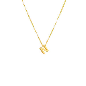 - MINI N INITIAL NECKLACE