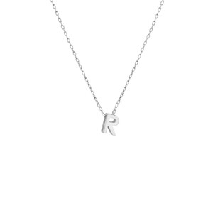 - MINI R INITIAL NECKLACE