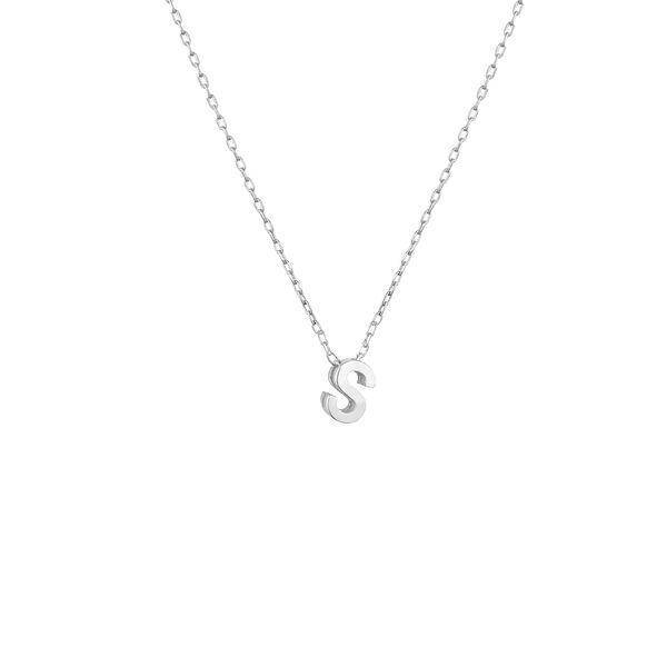 - MINI S INITIAL NECKLACE