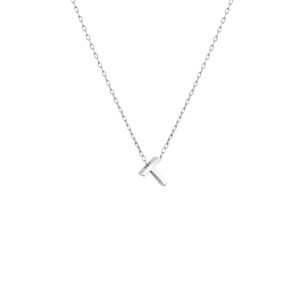- MINI T INITIAL NECKLACE