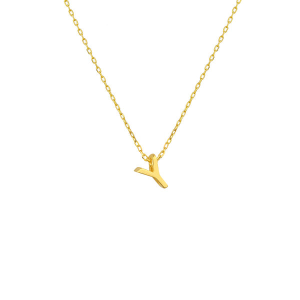 - MINI Y INITIAL NECKLACE