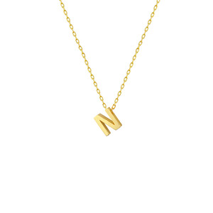 - N INITIAL NECKLACE
