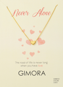 NEVER ALONE HEART NECKLACE - Thumbnail
