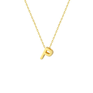 P INITIAL NECKLACE - Thumbnail