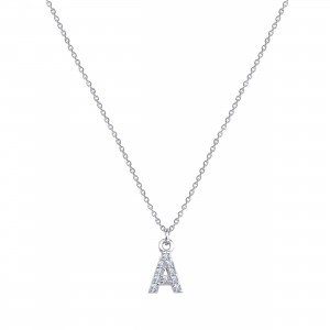 - PAVE A INITIAL NECKLACE