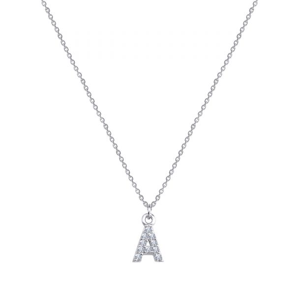 PAVE A INITIAL NECKLACE