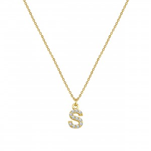 - PAVE S INITIAL NECKLACE
