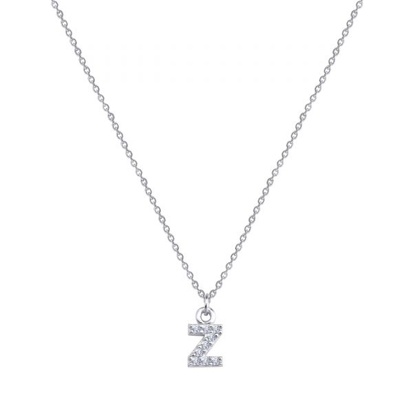- PAVE Z INITIAL NECKLACE