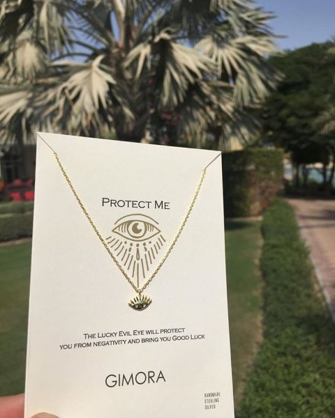 PROTECT ME EVIL EYE NECKLACE