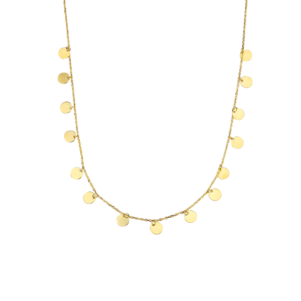 - DANGLING GOLD NECKLACE