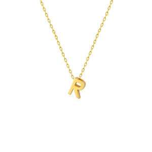 - R INITIAL NECKLACE